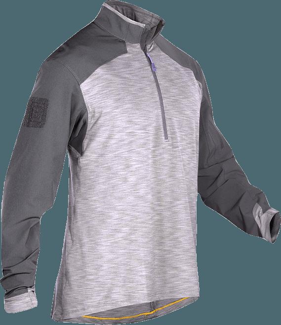 Image of 5.11 Rapid Response Q Zip Shirt, Large, Storm