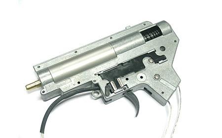 Gearbox, komplet v. II, 8mm til M4/M16, M90 fjeder - front ledni