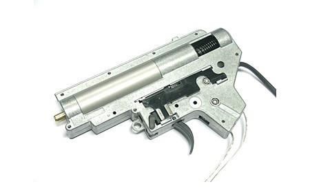 Gearbox, komplet v. II, 8mm til M4/M16, M90 fjeder - bag ledni