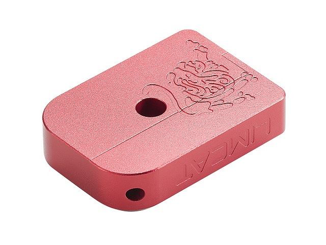 Image of AIP CNC Limcat Puzzle Magasin base til Hi-capa, lille - rød