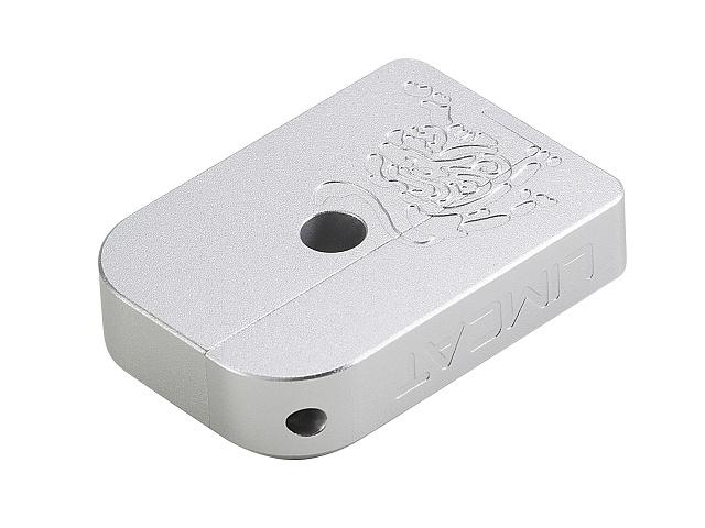 Image of AIP CNC Limcat Puzzle Magasin base til Hi-capa, lille - sølv