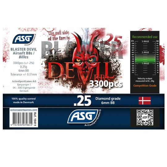 Image of ASG Blaster Devil 0,25g kugler, 3300 stk