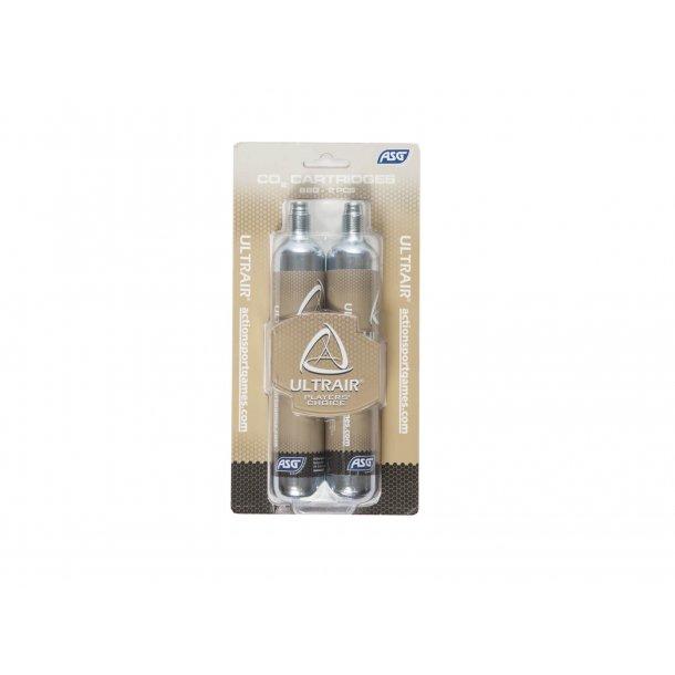 Ultrair 88 gram CO2 patroner, 2 stk