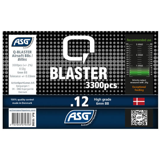 Image of   0,12g, Kugler, Q Blaster, 3300 stk, Gul