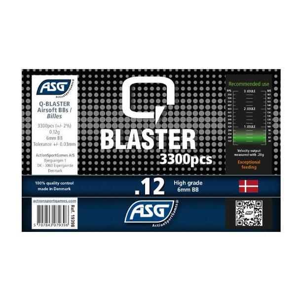 0,12g, Kugler, Q Blaster, 3300 stk, Gul