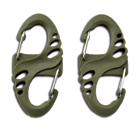 ATE Tactical S Type Carbiner 2 stk, OD