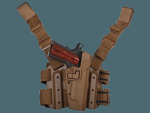 Blackhawk! Tactical Level 2 Lårhylster, Colt 1911, Sort