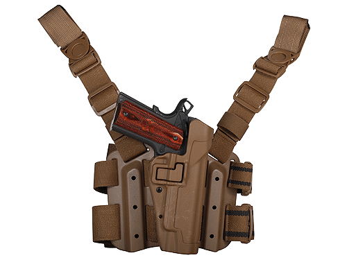 Billede af Blackhawk! Tactical Level 2 Lårhylster, Colt 1911, Sort