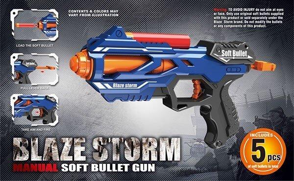 Blaze Storm Pistol, Store Pile