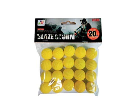 Blaze Storm Skumkugler, 20 stk