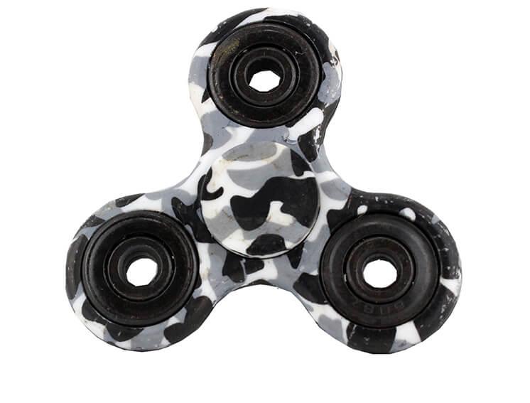 Fidget Spinner Hvid Camouflage