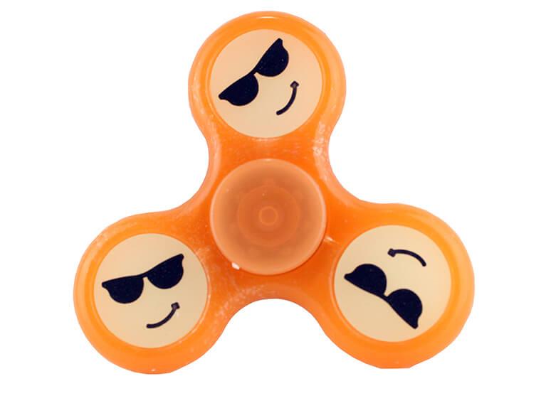 Fidget Spinner Orange Smiley