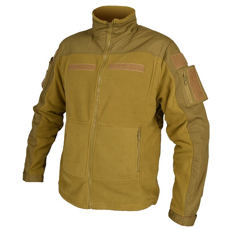 Fleece jakke i tan XXXL