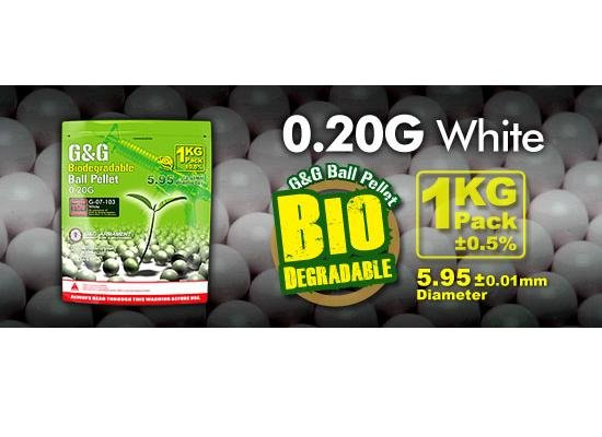 0,20g, Kugler BIO G&G, 5000 stk, Hvid