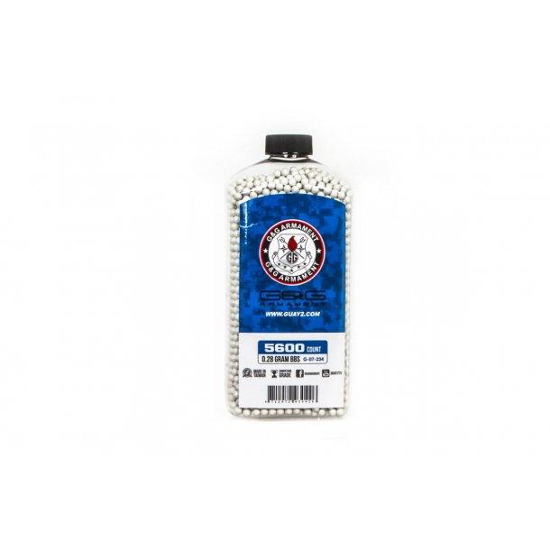 0,28g, Kugler G&G, 5600 stk, Hvid
