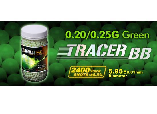 Image of   0,20g, Kugler G&G, Tracer, 2400 stk, Grøn