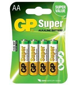 GP Super Alkaline AA batterier, 4 stk