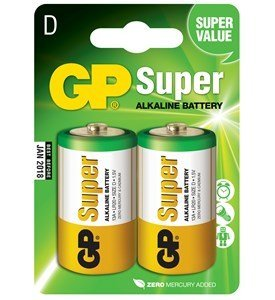 GP Super Alkaline Type D, 2 stk