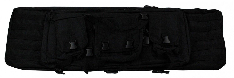 Geværtaske, med 3 lommer, 107 x 33 x 66 cm Sort