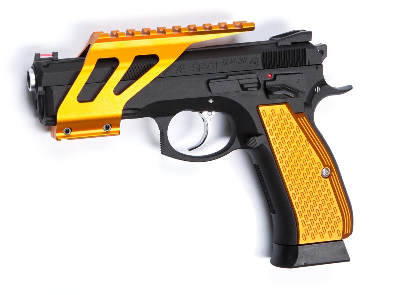 Grip, Shells, Orange, Alu, CZ, SP-01, Shadow