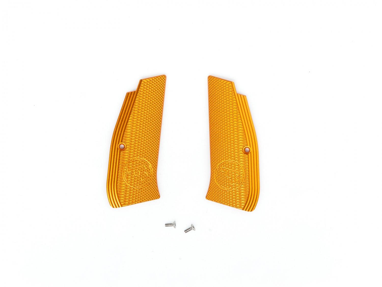 Grip shells, Orange alu, CZ logo, CZ SP-01 Shadow