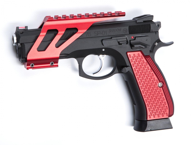 Grip Shells, Rød, Alu, CZ SP-01 Shadow