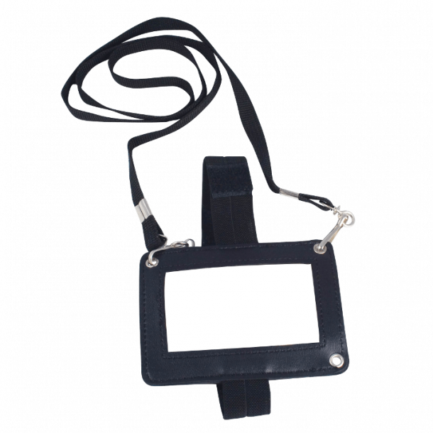 3-vejs ID holder, Sort