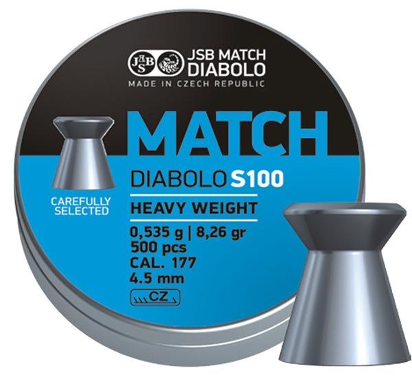 JSB Blue Match Diabolo hagl, 500 stk, 4,5 mm(.177)