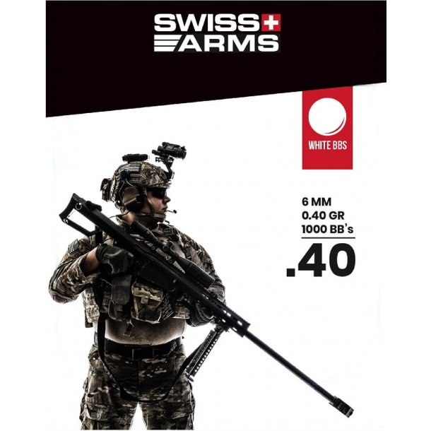 Swiss Arms 0,40g - 1000 stk.