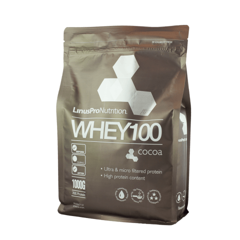 LinusPro Whey100 proteinpulver, Kakao