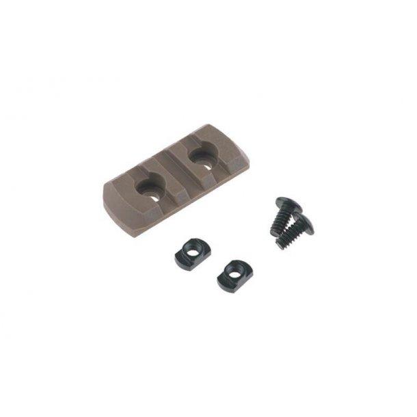 M-LOK Polymer Rail, 3 slots, Tan