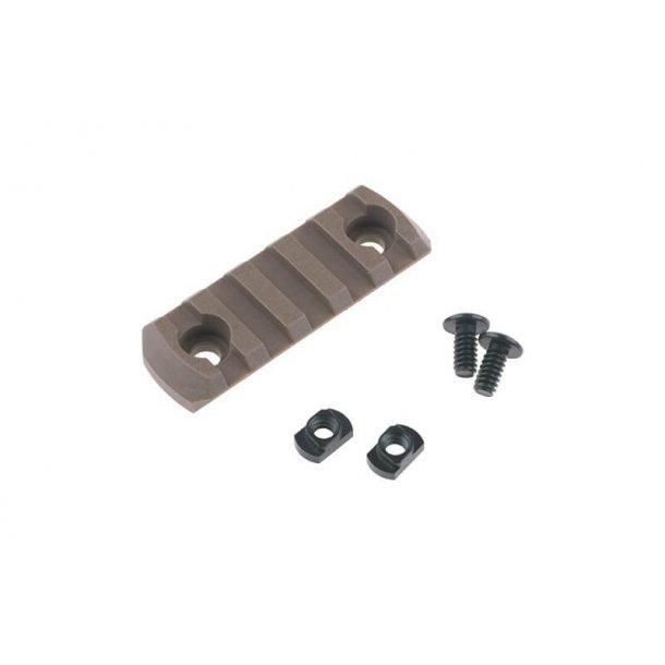 M-LOK Polymer Rail, 5 slots, Tan