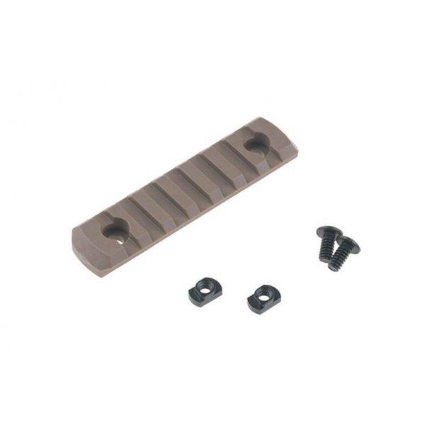 M-LOK Polymer Rail, 7 slots, Tan