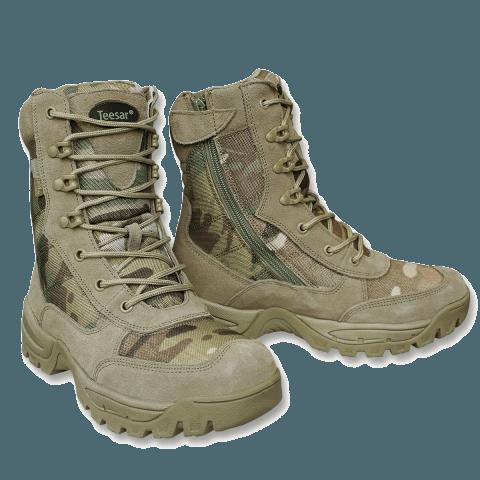 Miltec kamp/militærstøvler, Multicam