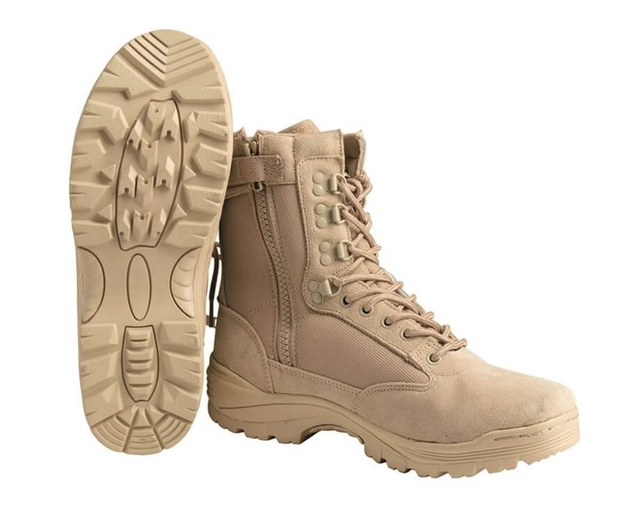 Miltec kamp/militærstøvler, Khaki