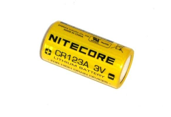 Nitecore CR123A 800 mAh, 2 stk.