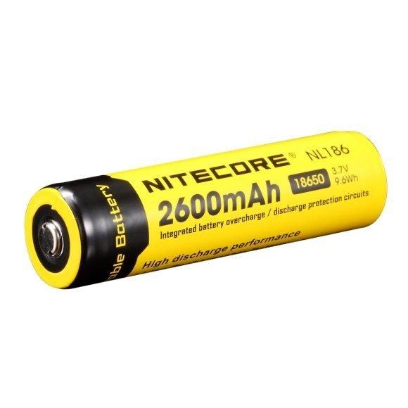 Batteri, 18650, 2600 mAh, Genopladelig
