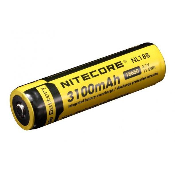 Batteri, 18650, 3200 mAh, Genopladelig