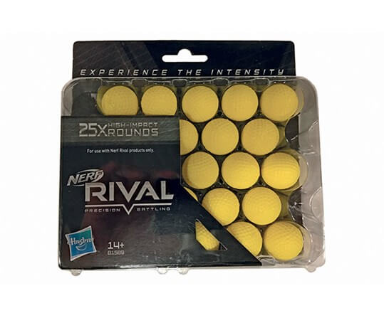 Nerf Rival skumkugler, 25 stk