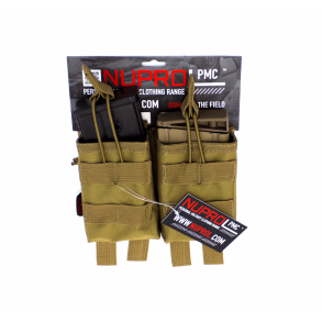 08c0ab4927a Nuprol PMC Dobbelt magasin lomme, G36, Tan