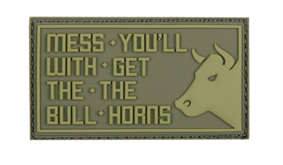 Patch Mess with the bull, Grøn