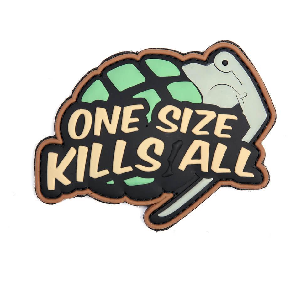Patch One Size Kills All, Grøn/Brun