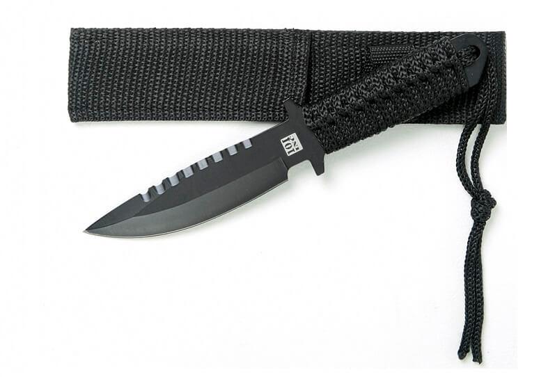 "Recon 7"" kniv, Sort"