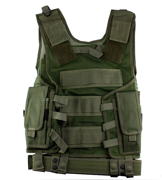 Taktisk vest, Full set, Grøn, str. one size
