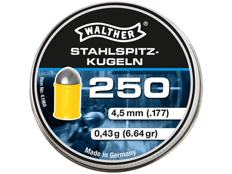 Walther Steelspids, 250 stk, 4,5mm(.177)