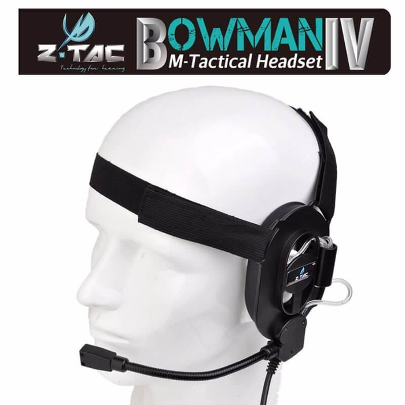 Billede af Z-Tactical Bowman IV headsæt, Sort