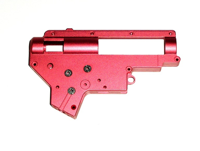 Gearboks ver. II i aluminium incl. 8mm kuglelejer