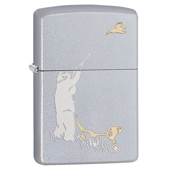 Zippo Hunter Satin Chrome Lighter