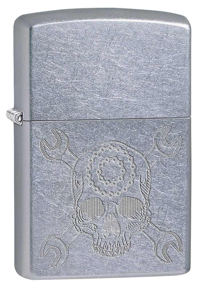 Zippo Price Fighter Skull Wrench, Lighter