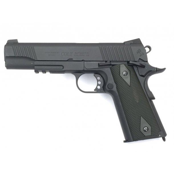 Colt, M1911, Blackened, Co2, Sort